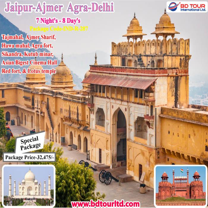Jaipur-Ajmir-Agra-Delhi